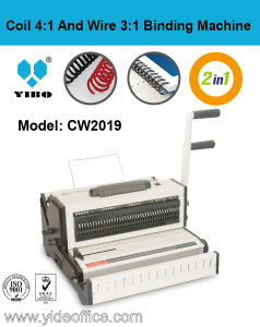 Manual Binding Machine for Wire 3: 1 and Coil 4: 1 (CW2019) pictures & photos