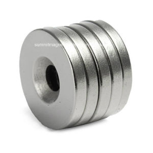 Ring Neodymium Magnets with Countersunk Screw pictures & photos