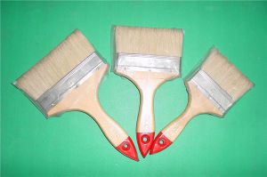 Wooden Handle with Red Tip White Bristle Paint Brush pictures & photos