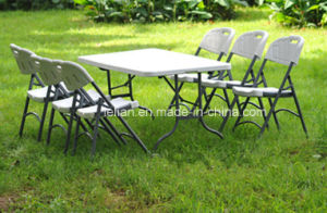 Outdoor Gargen Rectangle Square Folding HDPE Table with Different Size pictures & photos