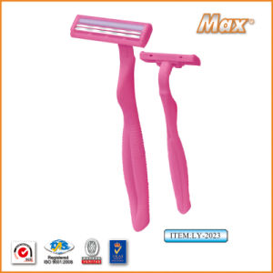 Twin Stainless Steel Blade Disposable Razor Fro Woman (LY-2023) pictures & photos