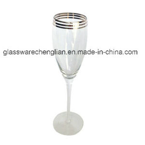 Silver Rim Glass Champagne Flute (B-CP021) pictures & photos