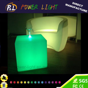LED Furniture Colorful Lighting Square Chair pictures & photos