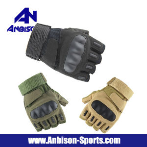 Anbison-Sports Airsoft Fingerless Half Finger Army Tactical Gloves pictures & photos