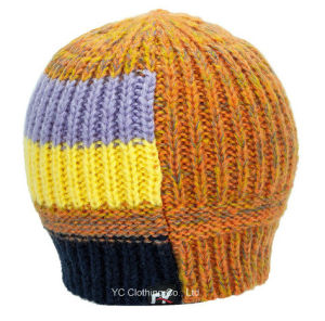 Knitted Winter Multi Color Cheap Crochet Hat pictures & photos