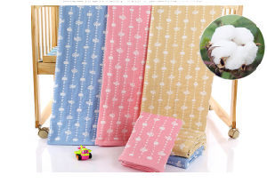 Cotton Baby Swaddle Blanket, Muslin Swaddle pictures & photos