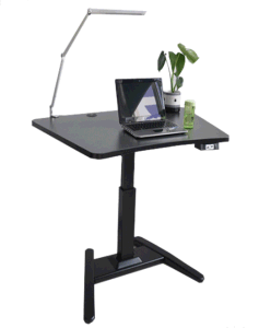 Ergonomic Electric Single Foot Sit to Stand Reception Desk (LDG-0112) pictures & photos