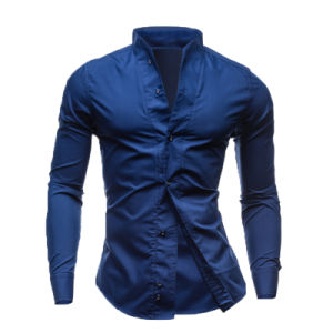 Fashion Style 100%Cotton Men′s Slim Fit Dress Shirt (A443) pictures & photos