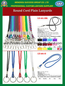 Round Cord Plain Lanyards pictures & photos
