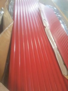 Zinc Aluminium Red Color Coated Steel Roofing Sheet pictures & photos