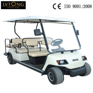 6 Seaters White Electric Sightseeing Golf Car pictures & photos