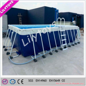 Customized Commerce Used Metal Frame Swimming Pool for Sale pictures & photos