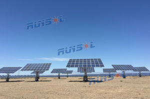 Smart Dual Axis Solar Tracker with MPPT Control pictures & photos