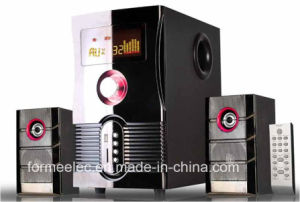 2.1CH Wooden USB SD Speaker with FM LED Subwoofer pictures & photos