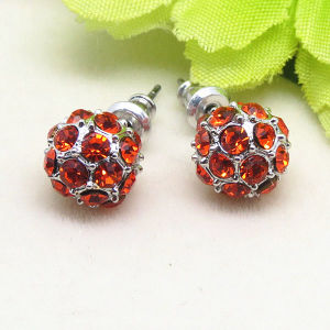 Custom Earrings Jewelry Pave Crystal Ball Stud Earrings pictures & photos