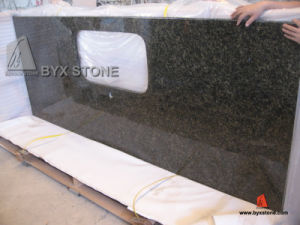 Natural Uba Tuba Dark Green Granite Stone Kitchen Countertop pictures & photos