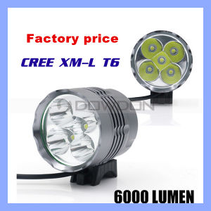 6000lm 5 Xml T6 LED Waterproof Aluminum Bike Front Headlight pictures & photos
