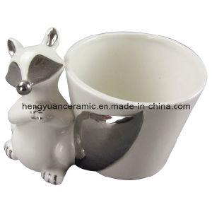 Desktop Fox Decoration Ceramic Flower Pot (garden decoration) pictures & photos