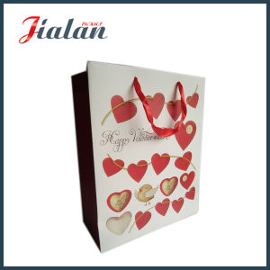 Heart Shape Logo Made Wholesales Cheap Printed Paper Shopping Bag pictures & photos