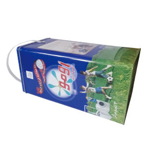 3kgs Package Omo Washing Power Package Tin Box with Plastic Handle pictures & photos