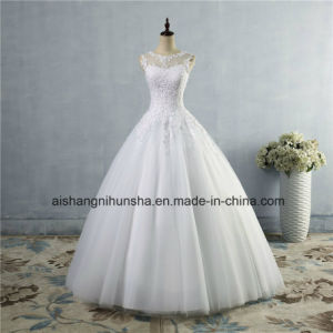 Lace up Back Croset Wedding Dress for Bride Made Customer pictures & photos