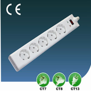 Five Ways Surge-Proof EU Extension Socket with Switch