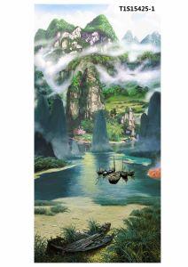 Landscape Printing on Silk Linen T1s15425-1