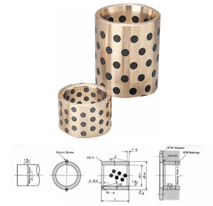 #500 Solid-Lubricanted Bronze Bearing Bushing Graphite Copper Self-Lubricating Oilless Plain Slide Sleeve Split Oilfree Linear Shaft Metric Inch Flanged Washer