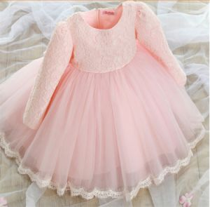 Kd1074 High-End Flower Girl Full Dress Little Princess Dresses Long Sleeve Beautiful Tutu Dresses Evening Gowns Dress for Retail pictures & photos