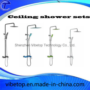 Stainless Steel Square Rainfall Head Shower Handheld Sets pictures & photos