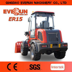 Everun Brand Compact Wheel Loader Er15 with Pallet Forks pictures & photos