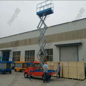 Aerial Working Trailer Mobile Scissor Lift Platform with Four Supporting Wheels pictures & photos