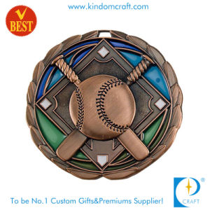 Custom 3D Antique Copper Baseball Medal for Souvenir Gift pictures & photos
