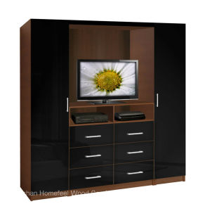 Functional Design TV Wardrobe Cabinet (HF-EY080318) pictures & photos