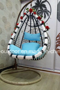 Synthetic Rattan Egg Shaped Indoor and Patio Swing Chair pictures & photos