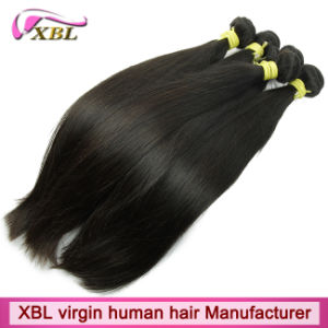 Machine Made Weft Silky Straight Virgin Brazilian Remy Hair Weave pictures & photos