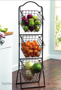 3-Tier Metal Market Store Retail Snake Fruit Towel Display Racks pictures & photos