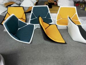 Upholstery Fiberglass Rotary Waiting Chair pictures & photos