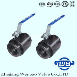 2PC Carbon Steel High Pressure Female Thread Forging Ball Valve pictures & photos