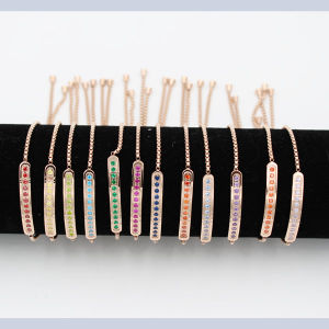 316L Stainless Bar Bracelet with Birthday Stones pictures & photos
