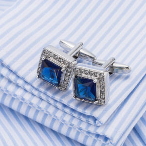 VAGULA Luxury Crystal Men French Cufflinks Wedding Gift Gemelos Zircon Cuff Links 518 pictures & photos