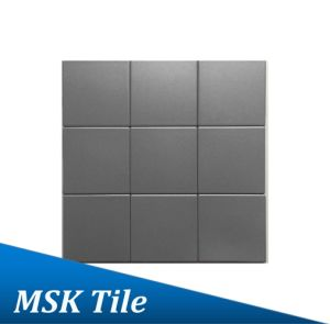 "4X4""Dark Grey Matt Glazed Porcelain Floor and Wall Tile"