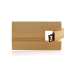 Credit Card Wood USB Flash Drive Logo Bespoke Promotion Gift pictures & photos