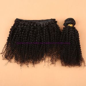 Unprocessed 3/4 Bundles with Silk Base Closure Malaysian Virgin Hair Bundles with Closure Kinky Curly Closure Curly Weave Human Hair Extension pictures & photos