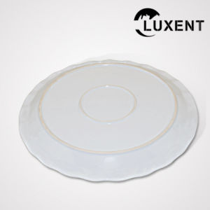 Manufacturing Ceramic Appetizer Wavy Shape White Oven Tray pictures & photos