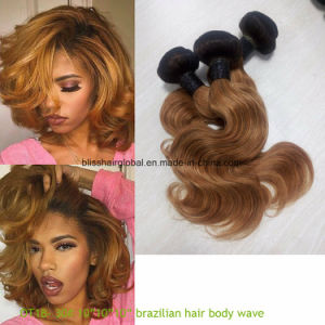 Brazilian Remy Hair Ombre Color 10inch Ot1b-30 Body Wave pictures & photos