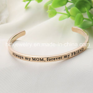 Custom Inspirational Jewelry Fashion Stainless Steel Open Cuff Bangle pictures & photos