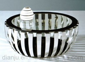 Special Design Furniture Stainless Steel Glass Top Sofa Table (CT052L)