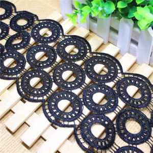 New Design Wholesale 12cm Width Embroidery Nylon Lace Polyester Embroidery Trimming Fancy Lace for Garments Accessory & Home Textiles & Curtain pictures & photos