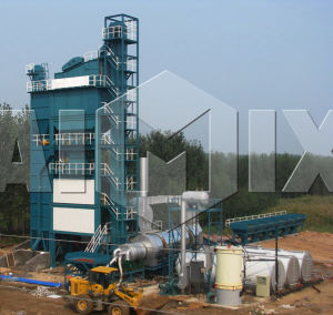 Hot Mix Mobile Asphalt Mixing Plant Dhb60 60t/H pictures & photos